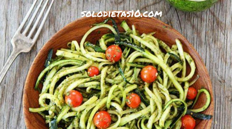 como hacer espaguetis de calabacin